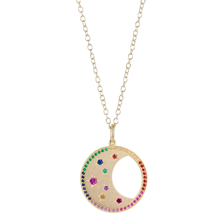 Necklace Moon Diamonds Colors
