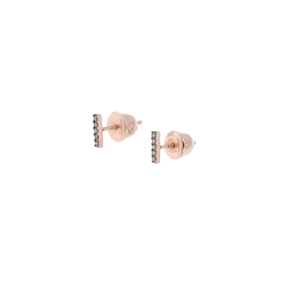 Rose gold 4 diamonds earring