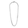 5mm link necklace diamond pendant