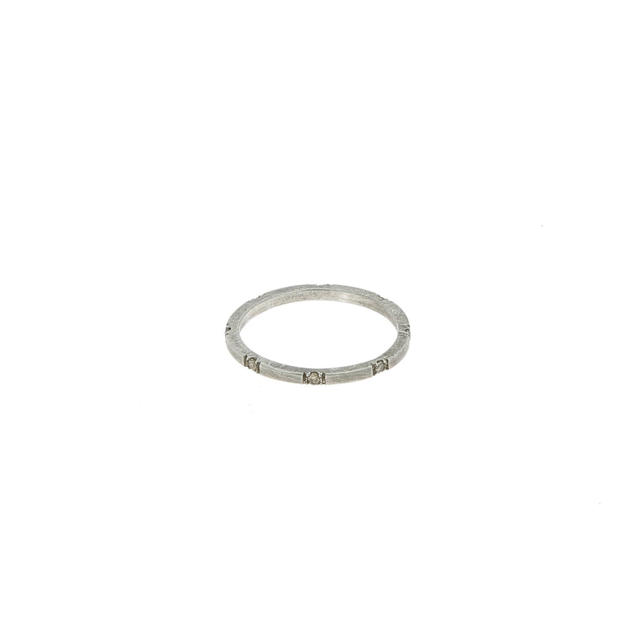 8 Champagne Diamond Band Ring