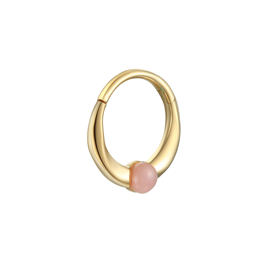 8mm Floating Pink Opal Clicker