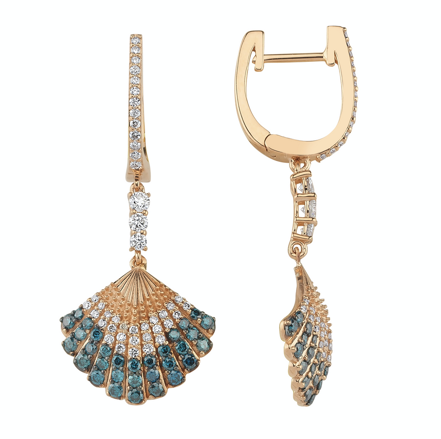 AQUA LIGHT OYSTER EARRINGS Diamond