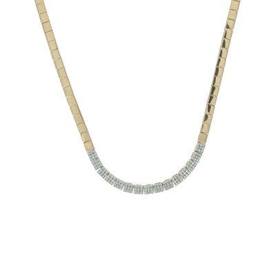 Gold & Diamond Squares Necklace