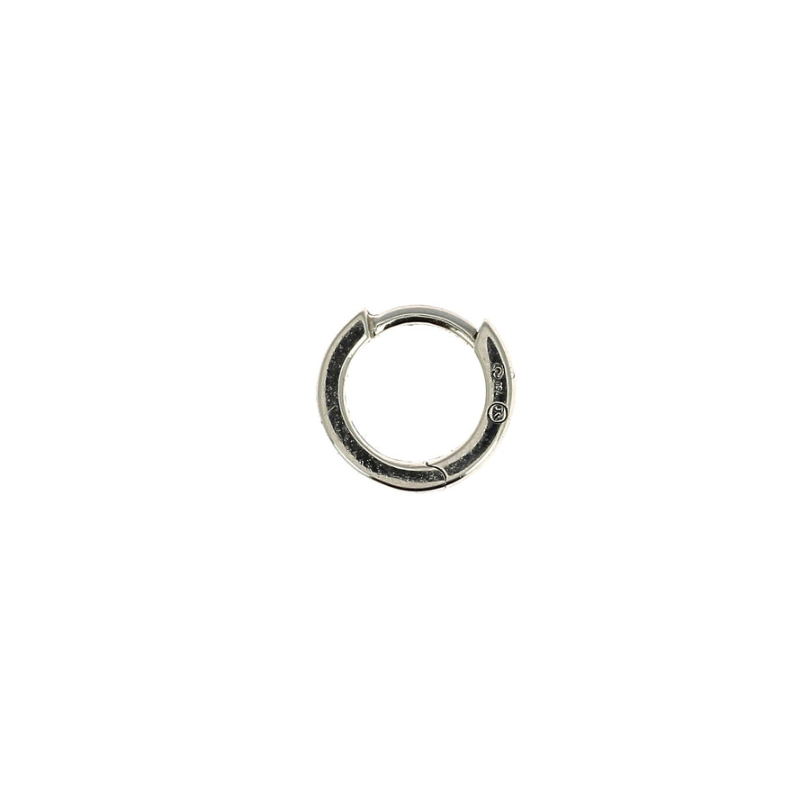 6.5mm Baguette Diamond Hoop White Gold