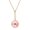 Pink Opal Necklace Compass