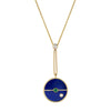 Necklace Lapis Diamant Compass