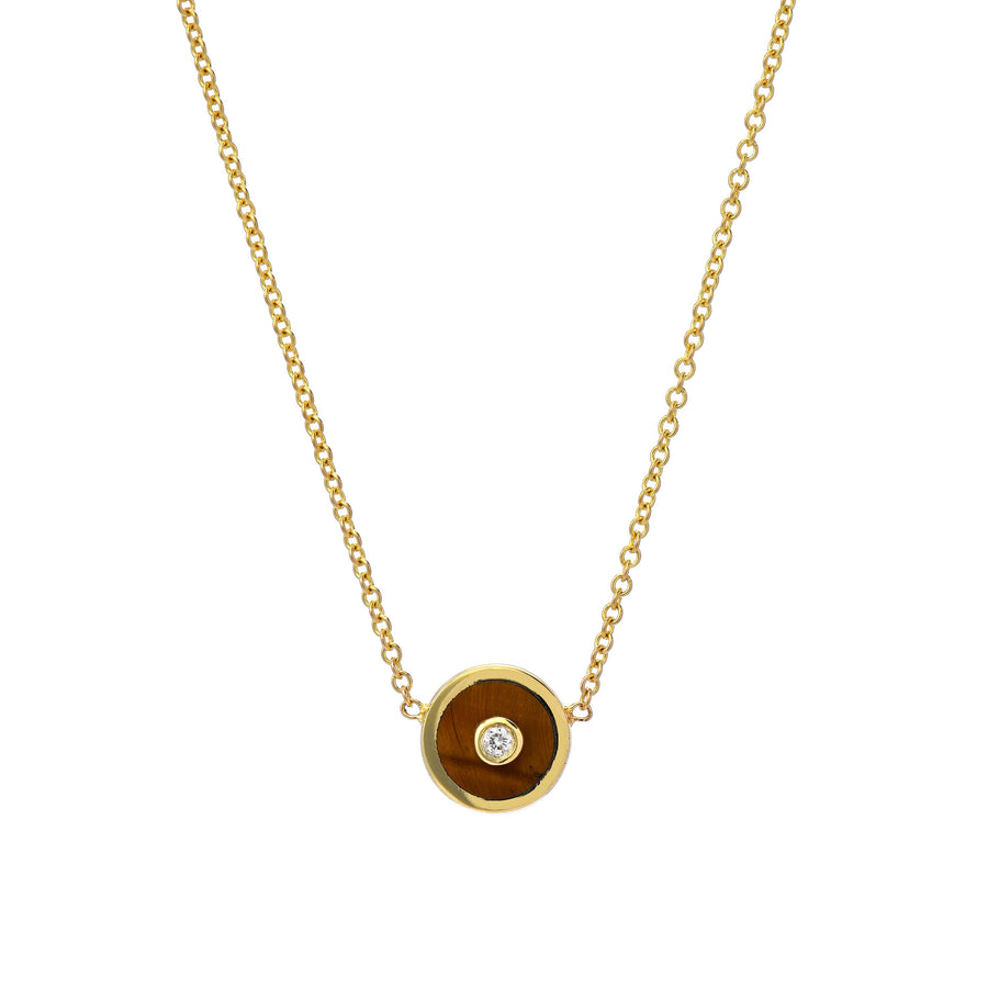 Tiger Eye Necklace Compass