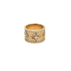 Alliance ring rose gold white diamond