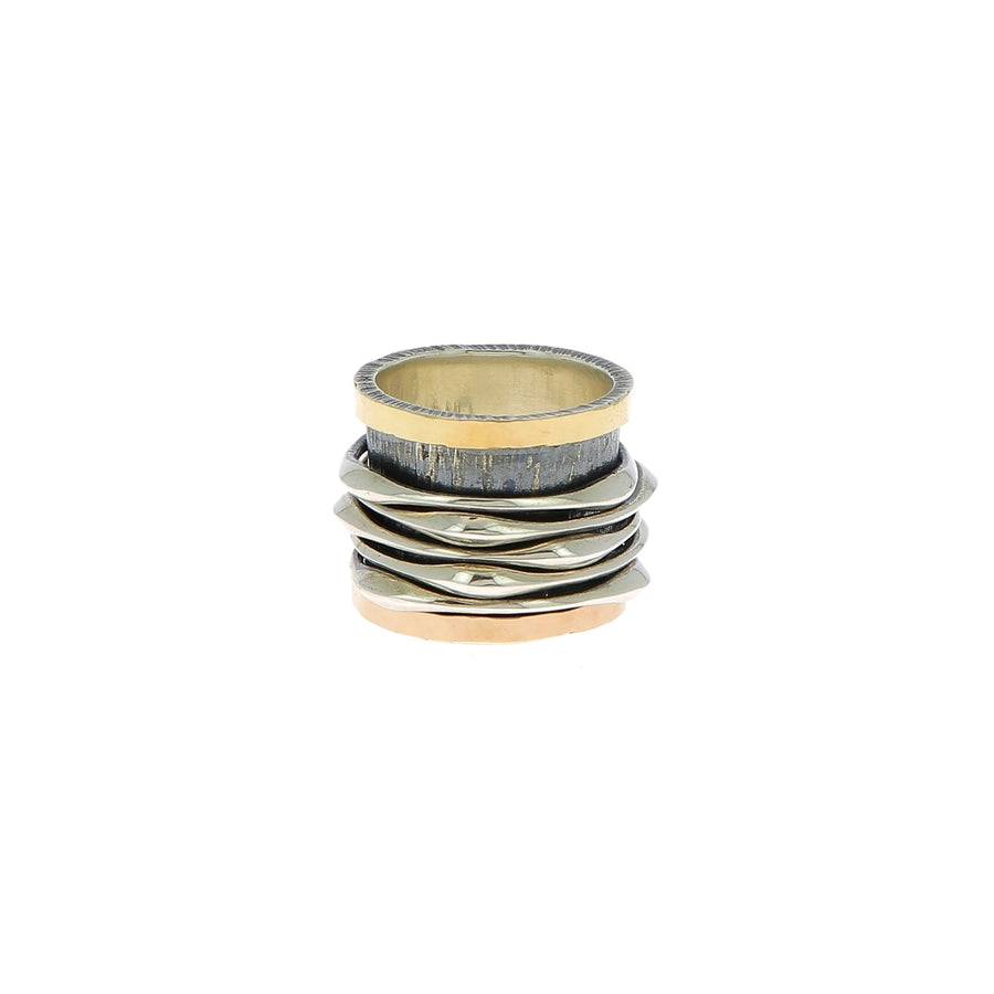 Ring five movable bands silver