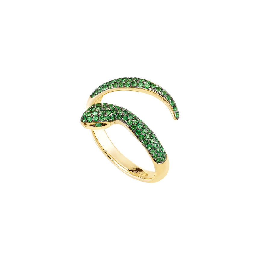 Dangerous Kiss 1 Row Ring Tsavorite