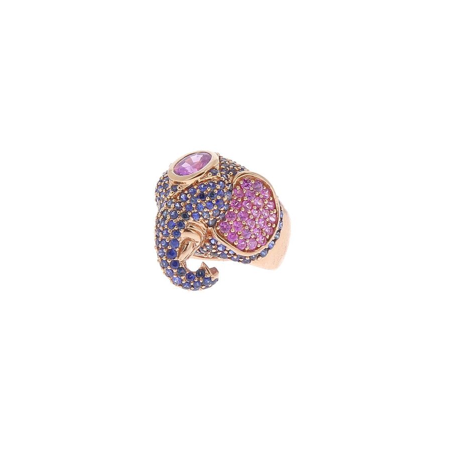 Elephant rose gold ring