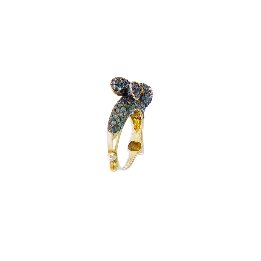 Rabbit blue sapphires ring