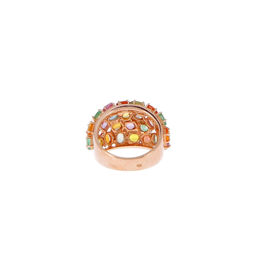 Ring orange sapphires, pink, yellow