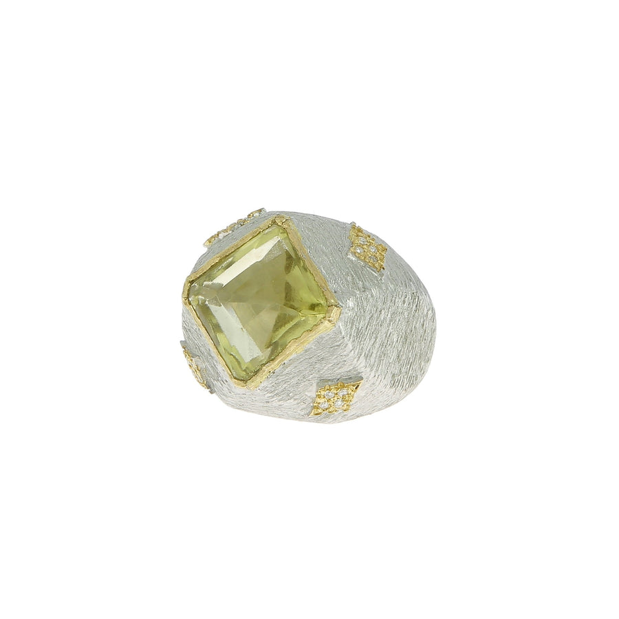 Tahir citrine and white diamond ring