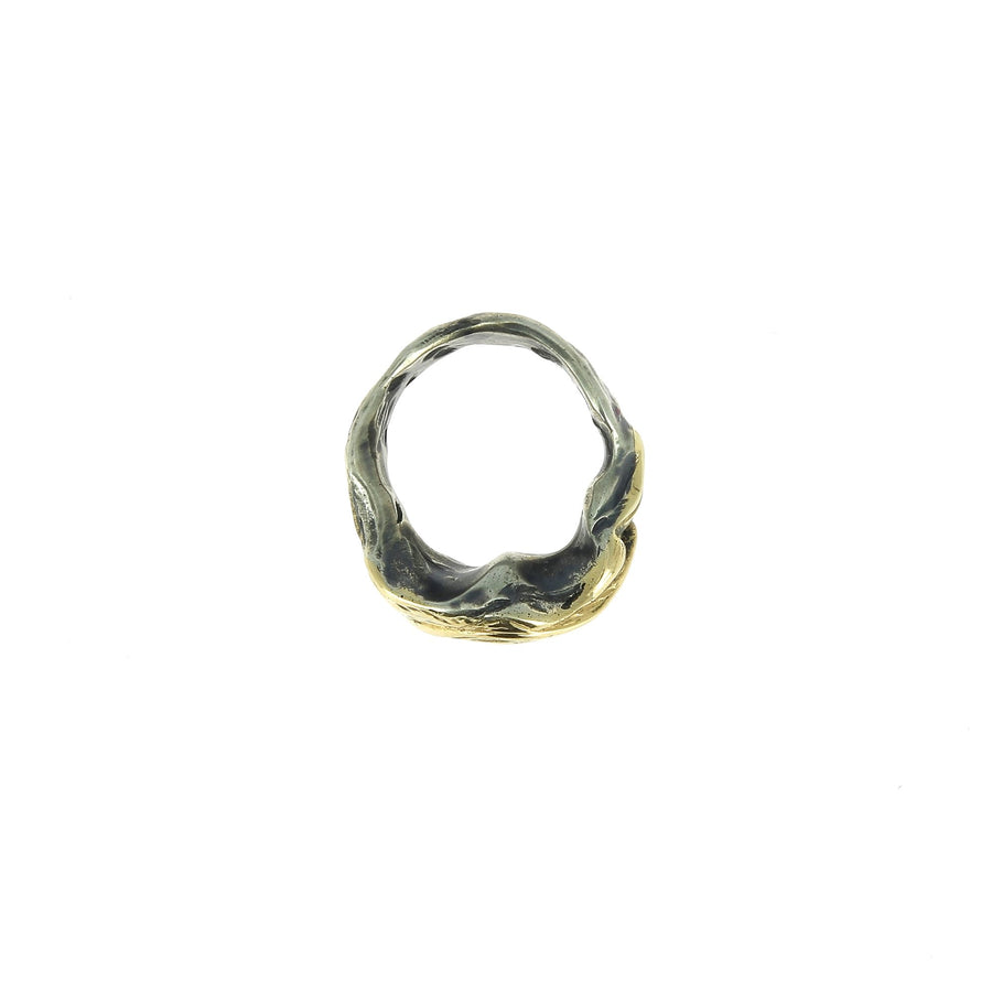 Wave Gold and Silver Ring