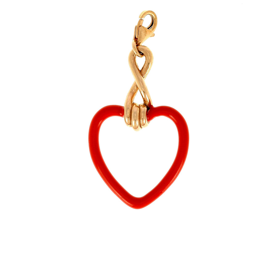 Bea bongiasca large heart charm red enamel
