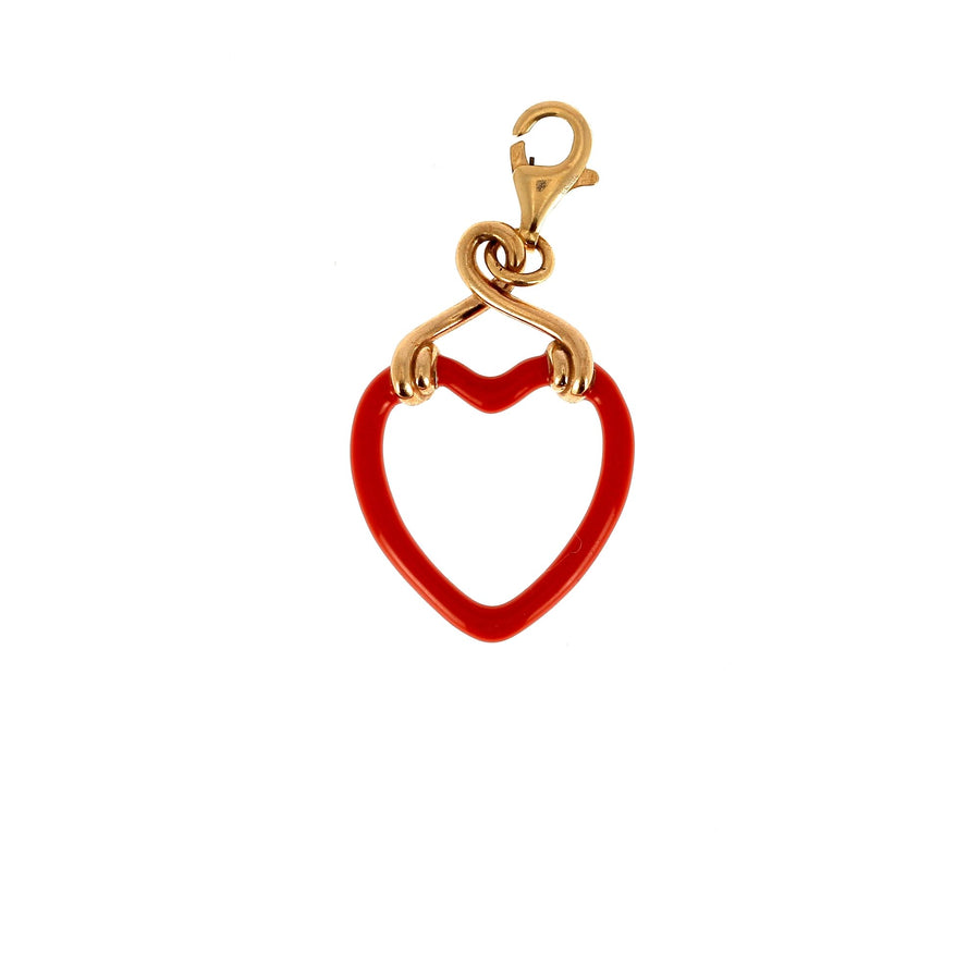 Bea bongiasca small heart charm red enamel