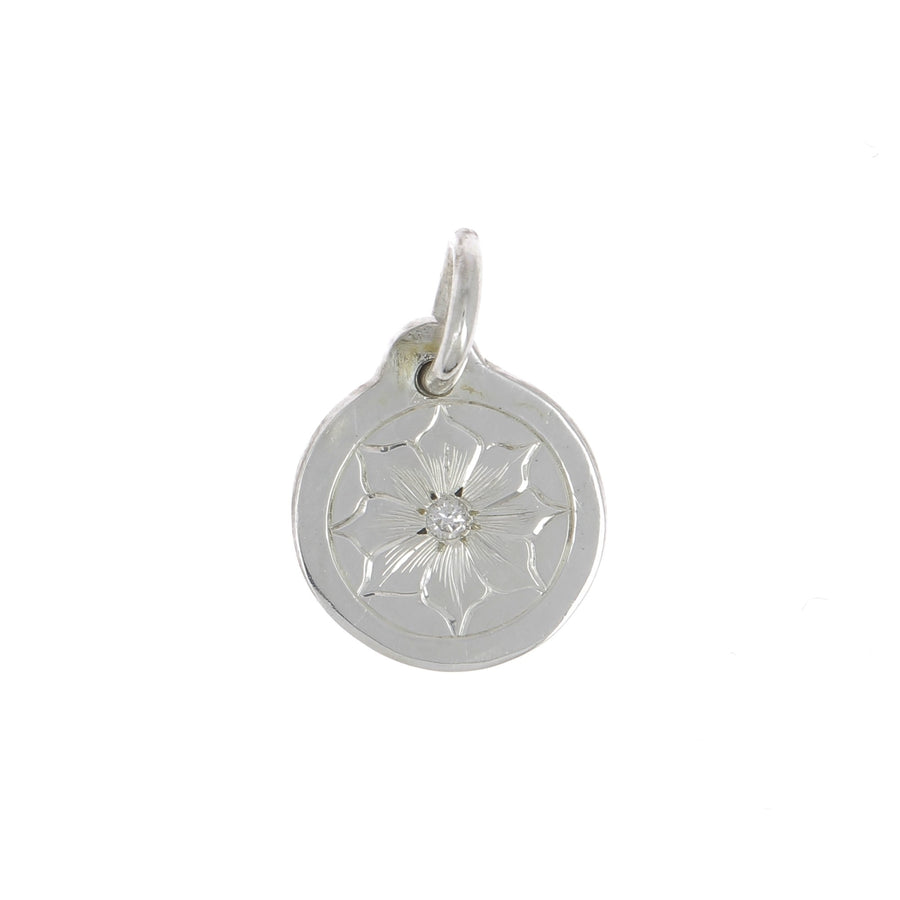 Bloom silver and diamond charm