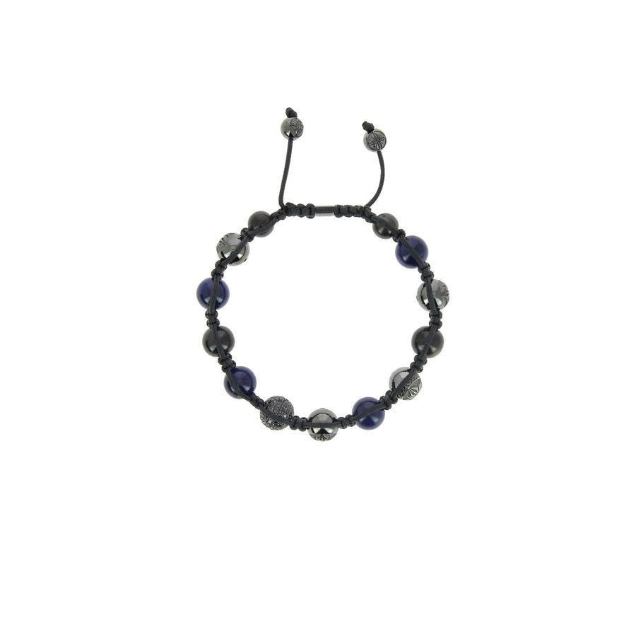 Blue and grey sapphire bracelet