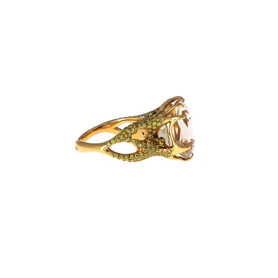 Bocciolo ring with morganite