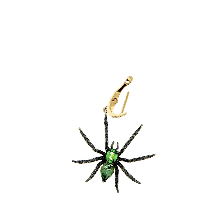 Green Spider Earring