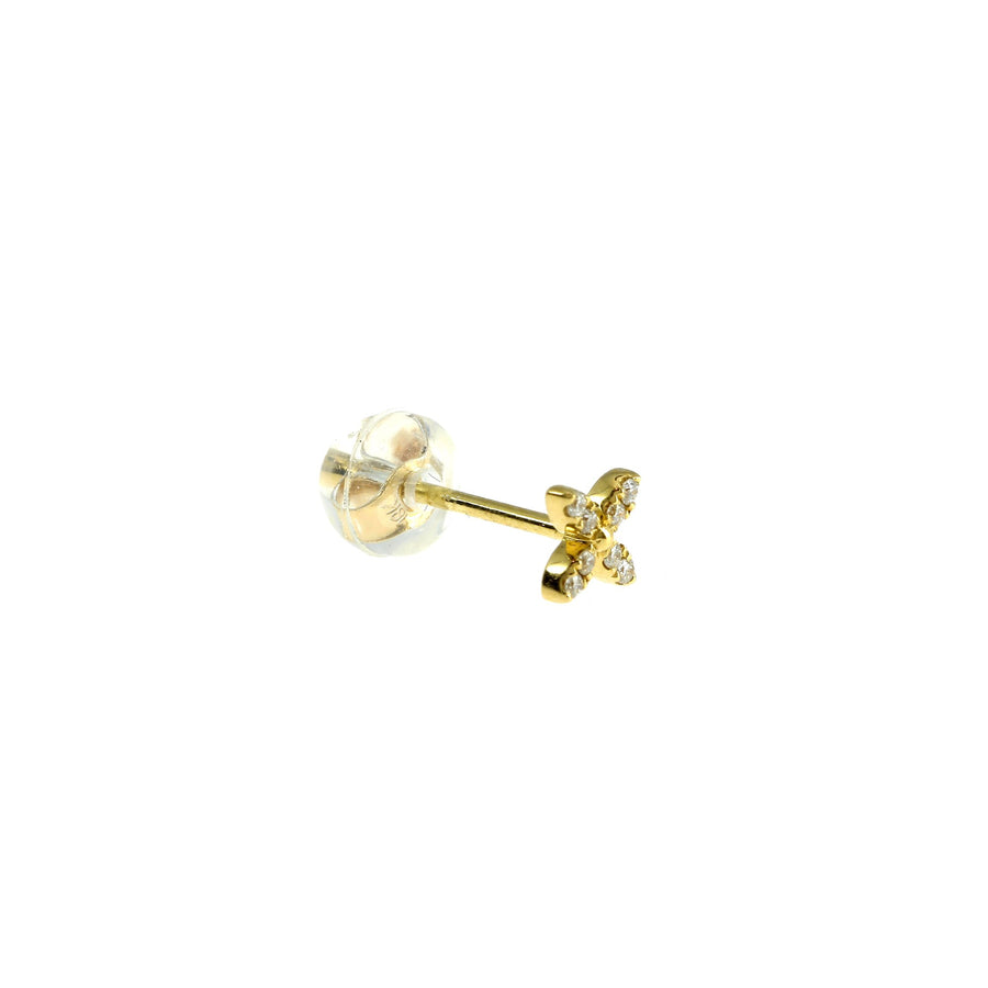 Clover Earring Yellow Gold