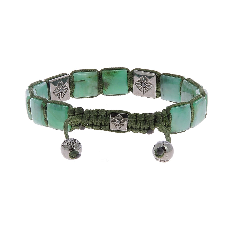 Lock black diamonds & emerald bracelet