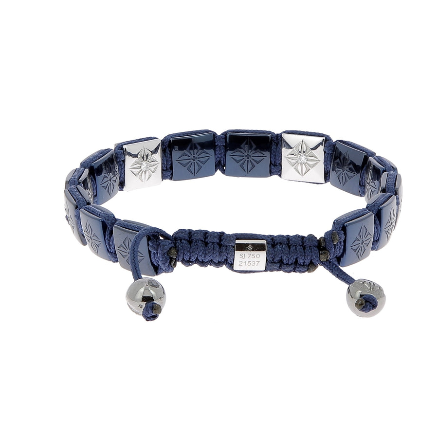 Sapphire and black diamonds bracelet