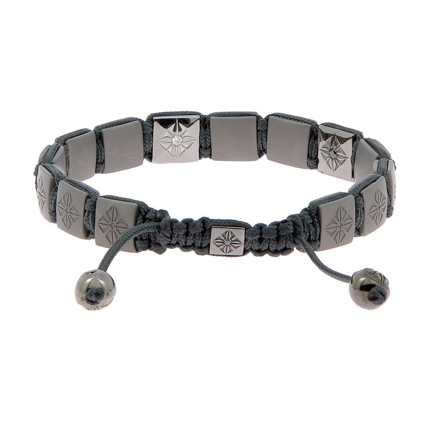 White gold & black diamonds bracelet