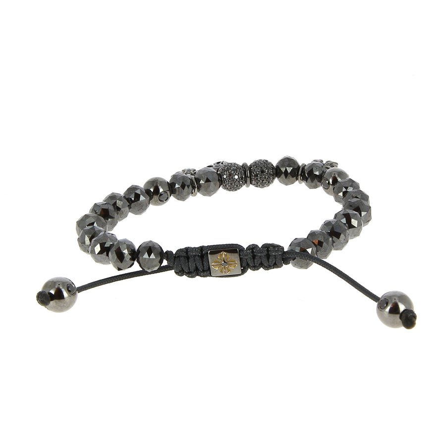 Full diamonds black faceted bracelet