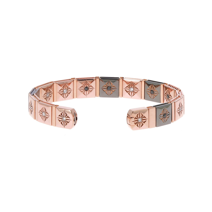 Pink gold and black diamonds bracelet
