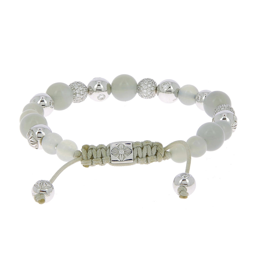 Moonstone and white diamonds bracelet