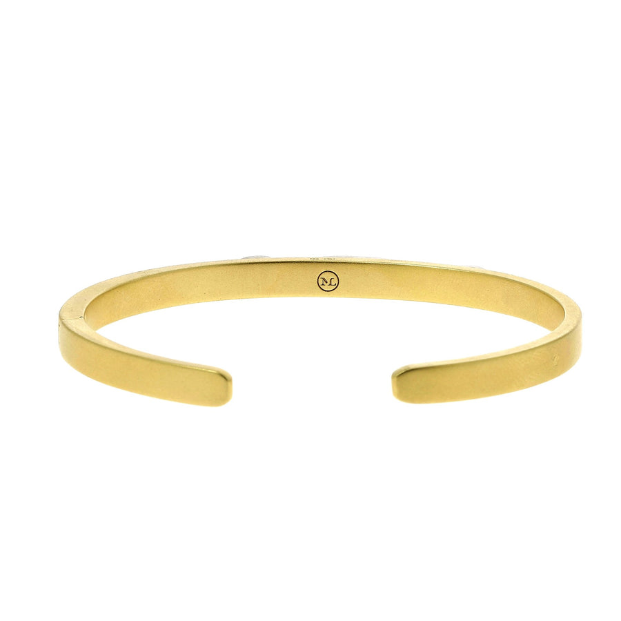 Yellow mat gold bangle