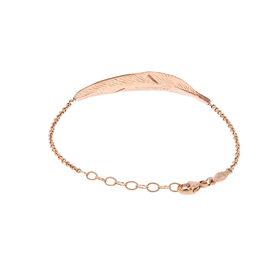 Feather Rose Gold Bracelet