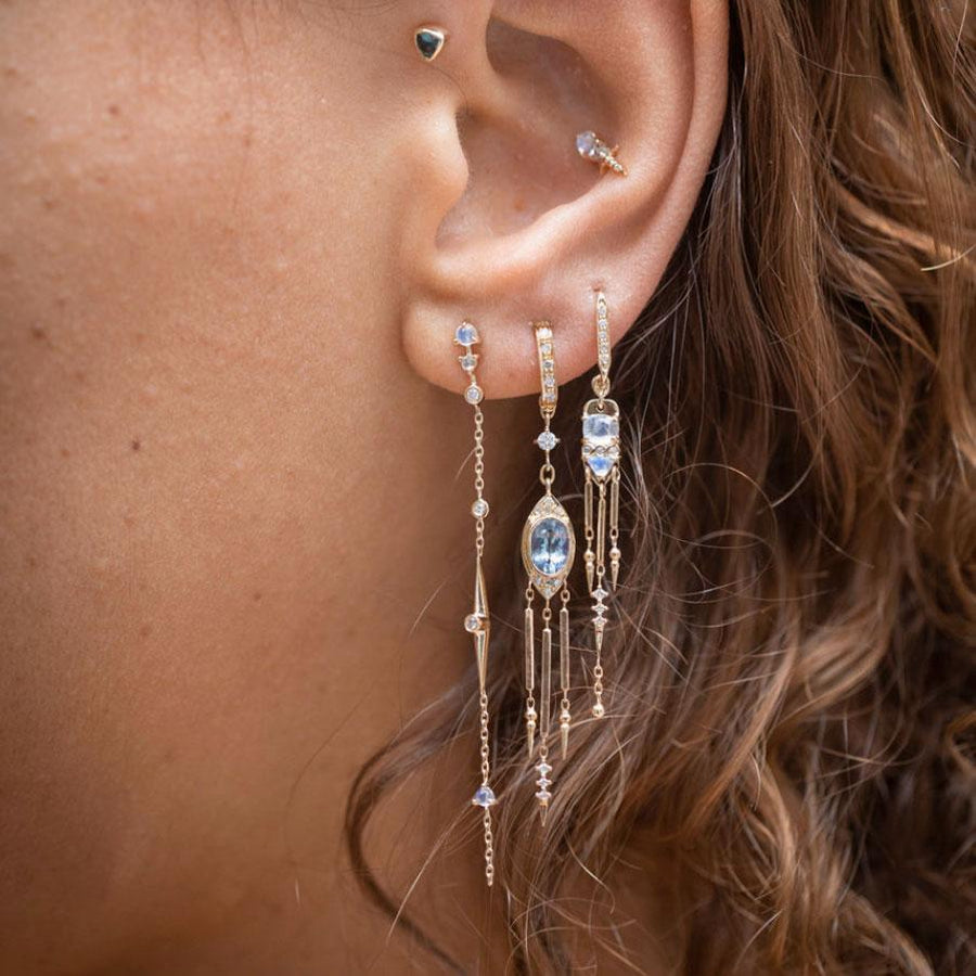 Moonstone Fringes Earring