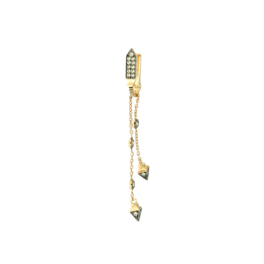 Champagne Diamond Dangling Earring