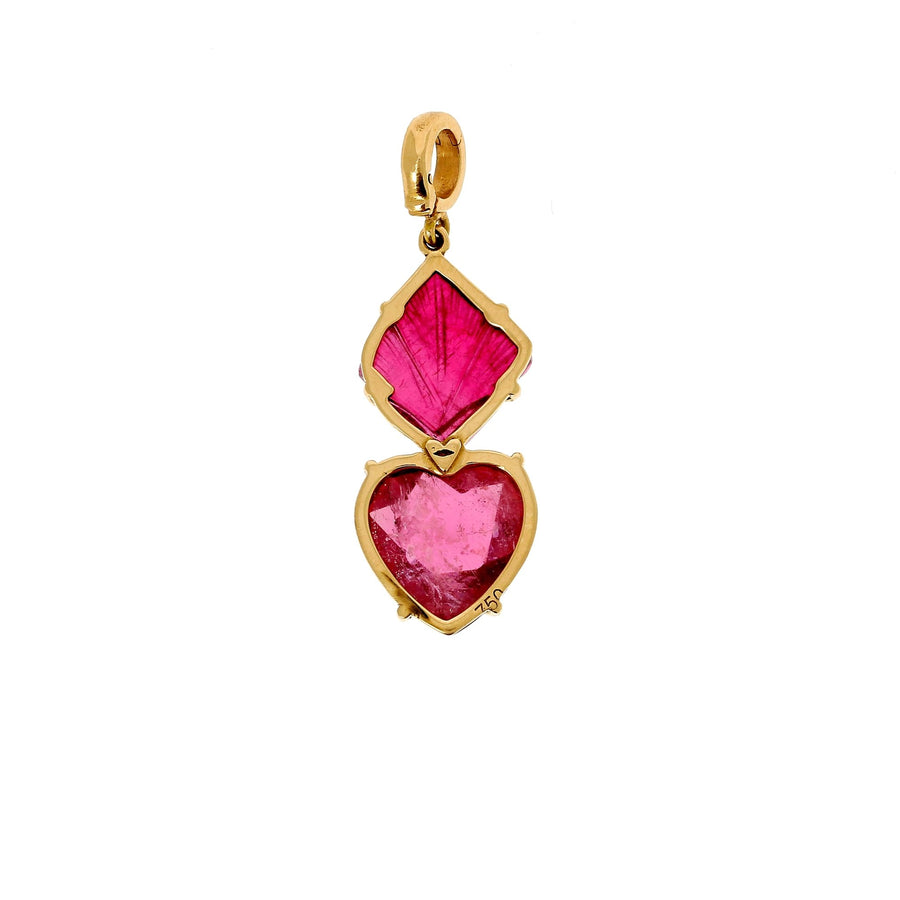 Christina Alexiou fire heart charm