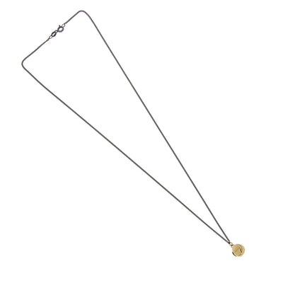 Yellow Gold Triangle Necklace