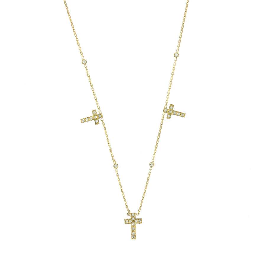 3 Cross Necklace Rose Gold