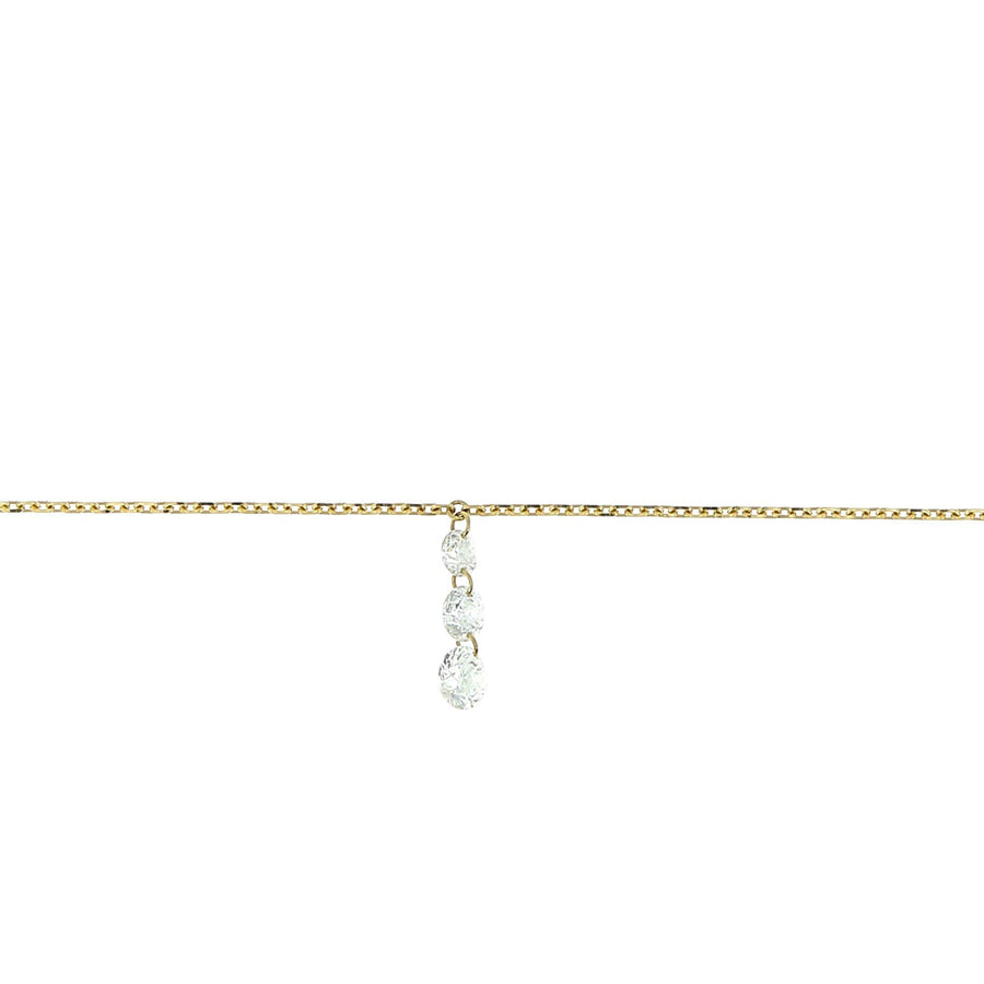 Necklace degrades diamond yellow gold