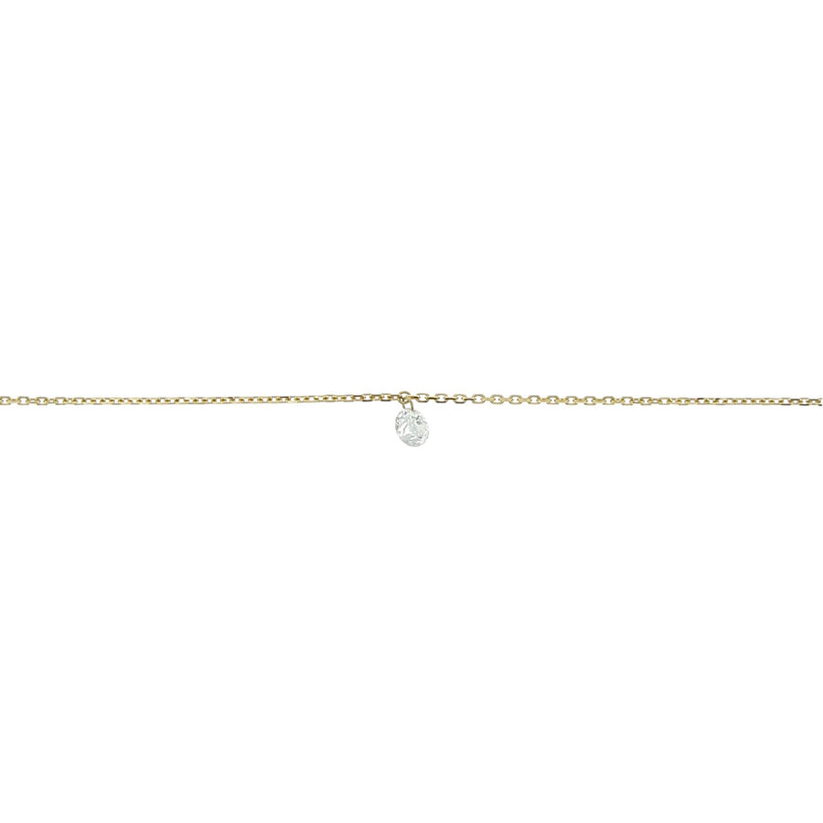 4mm yellow gold diamond necklace