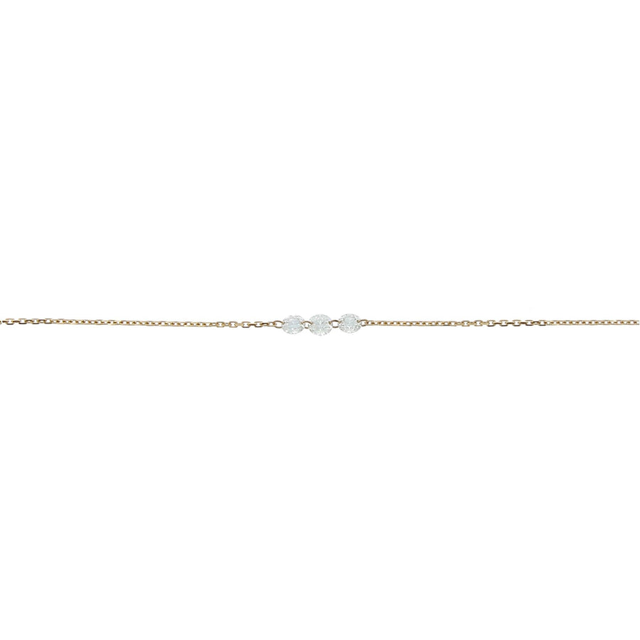 Diamond necklace inlaid 3.5mm rose gold