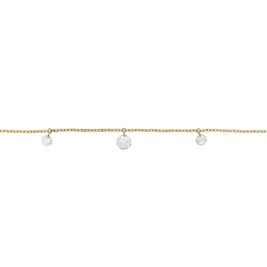 3.5mm yellow gold necklace pendant diamonds