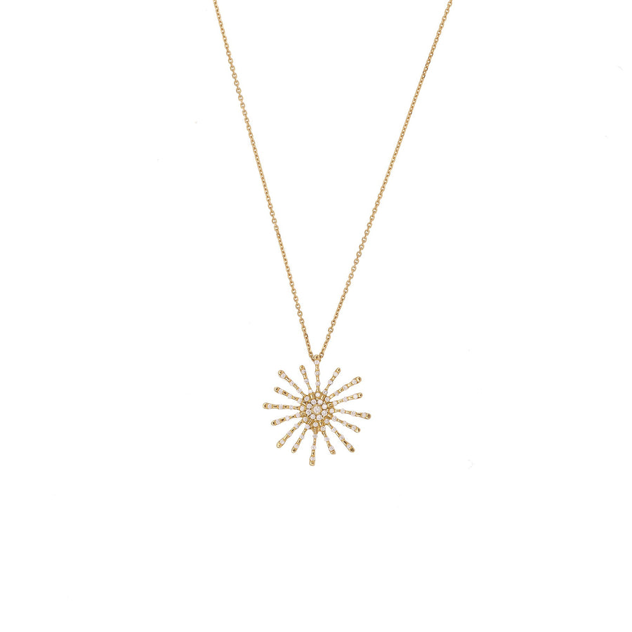 Paved Sun Necklace