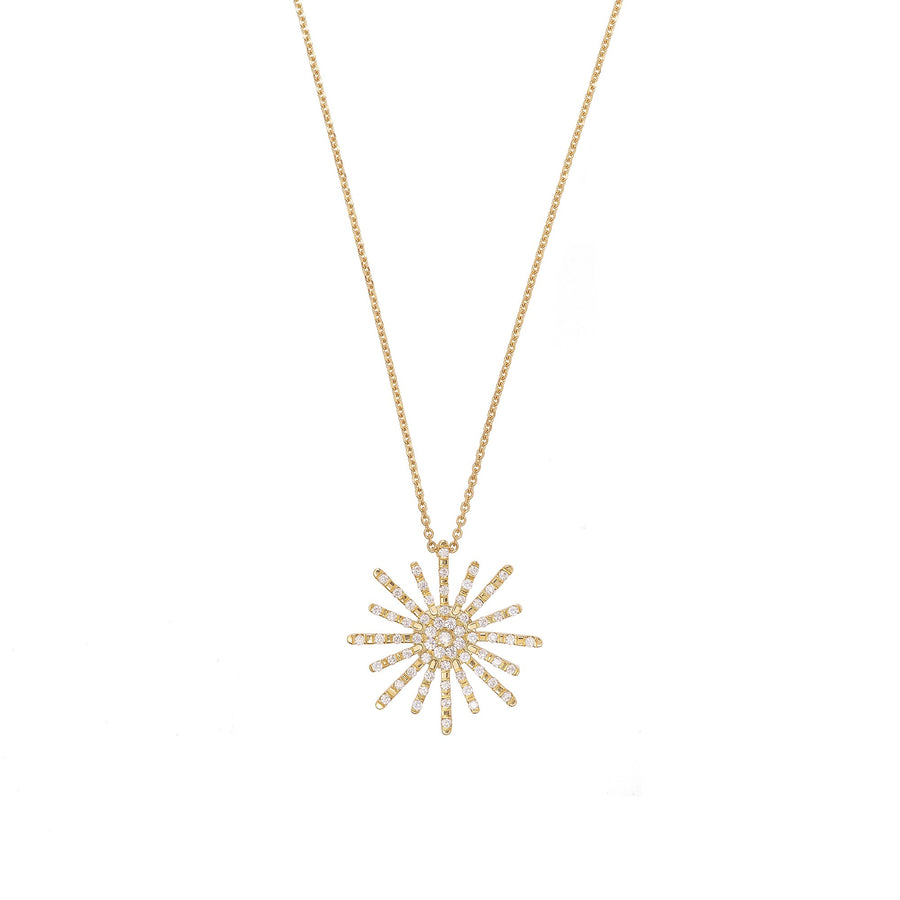 Paved Sun XL Necklace