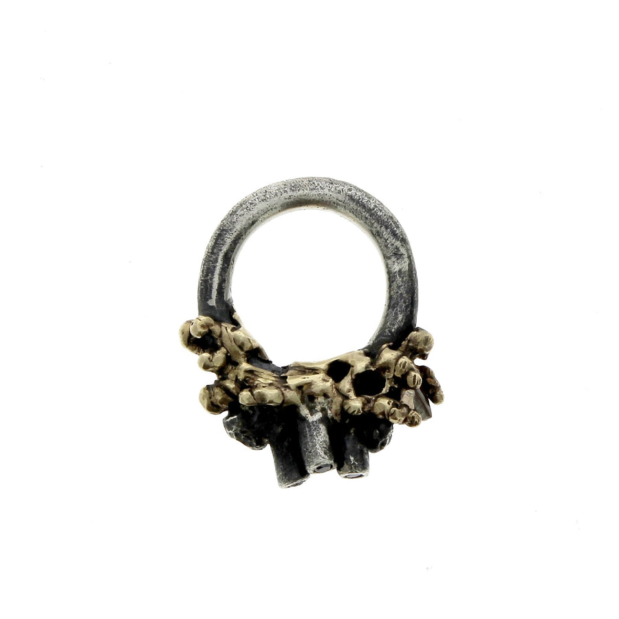 Corals Ring Black Diamonds