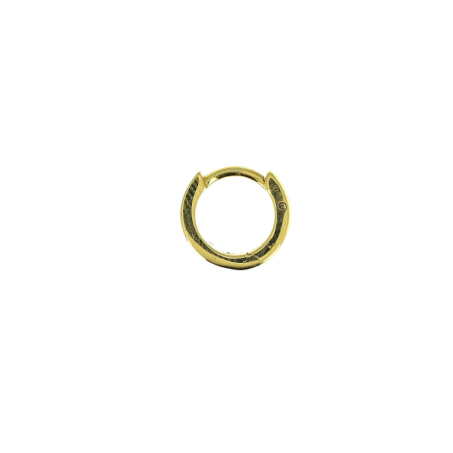 6.5mm Baguette Diamonds Hoop Yellow Gold