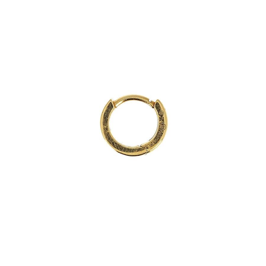 6.5mm Full Paved Hoop Rose Gold