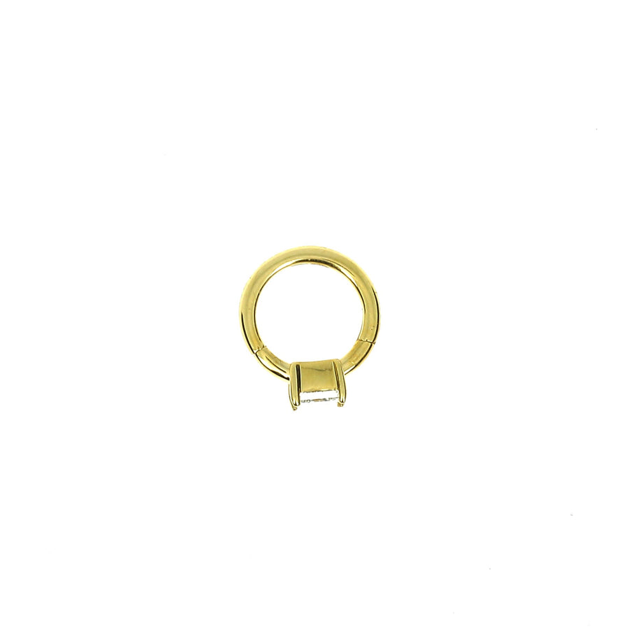 6.5mm Yellow Gold Hoop Princess 3x3mm