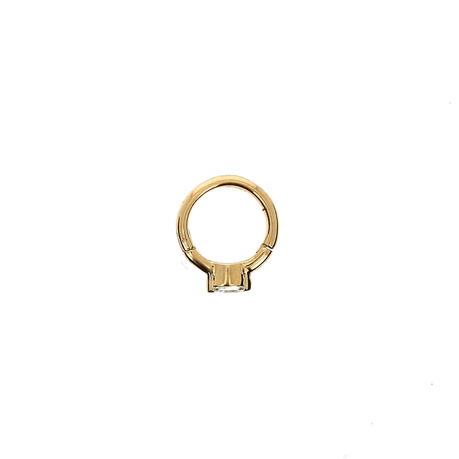 6.5mm Rose Gold Hoop Marquise 2.8x1.5mm